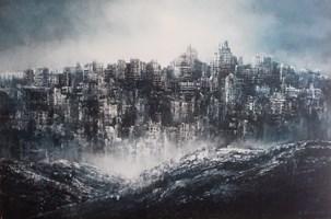 Obraz do salonu artysty Andrzej Fronczak pod tytułem Impresja miejska II