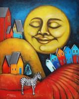 Obraz do salonu artysty Małgorzata Rukszan pod tytułem Równonoc jesienna