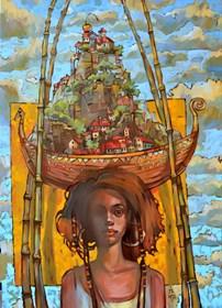 Obraz do salonu artysty Paweł Oleszkiewicz pod tytułem Wyspa