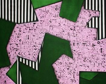 Obraz do salonu artysty Magdalena Karwowska pod tytułem Miasto 006