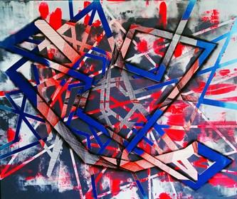 Obraz do salonu artysty Magdalena Karwowska pod tytułem Miasto 220