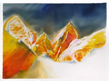 Obraz do salonu artysty Beata Musiał-Tomaszewska pod tytułem Mont orange 3