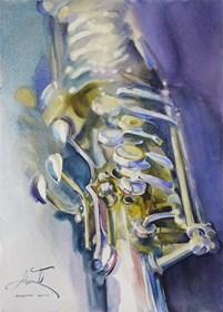 Obraz do salonu artysty Beata Musiał-Tomaszewska pod tytułem Sax