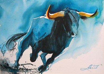 Obraz do salonu artysty Beata Musiał-Tomaszewska pod tytułem Blue Bull
