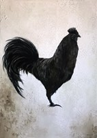 Living room painting by Klaudia Choma titled Black Rooster