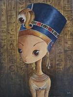 Living room painting by Estera Parysz-Mroczkowska titled Nefertiti