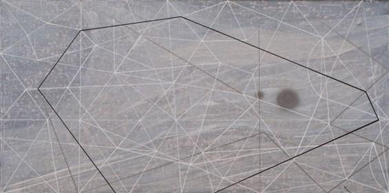 Obraz do salonu artysty Marek Ejsmond-Ślusarczyk pod tytułem Stosunki przestrzenne