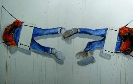 Obraz do salonu artysty Dariusz Grajek pod tytułem Huśtaweczka…