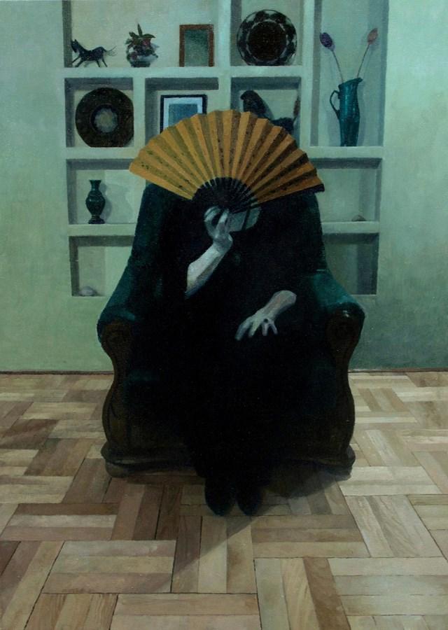 Obraz do salonu artysty Maria Danielak pod tytułem Wachlarz