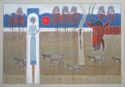 Obraz do salonu artysty Mikołaj Malesza pod tytułem Jesienny koncert