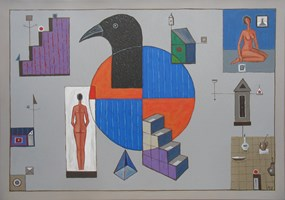 Living room painting by Mikołaj Malesza titled The kaleidoscope