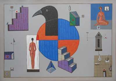 Obraz do salonu artysty Mikołaj Malesza pod tytułem Kalejdoskop