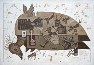 Obraz do salonu artysty Mikołaj Malesza pod tytułem Zlot