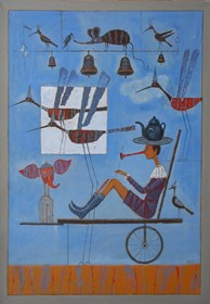 Obraz do salonu artysty Mikołaj Malesza pod tytułem Podróż z Alicją