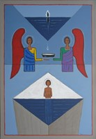 Living room painting by Mikołaj Malesza titled Baptism