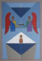 Obraz do salonu artysty Mikołaj Malesza pod tytułem Chrzest