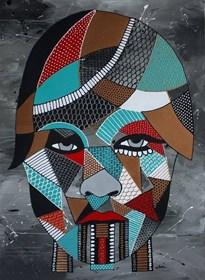 Obraz do salonu artysty Monika Mrowiec pod tytułem Abstrakcyjny Portret Kobiety II