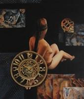Obraz do salonu artysty Arkadiusz Siarkowski pod tytułem Bezimienne uliczki zmysłów