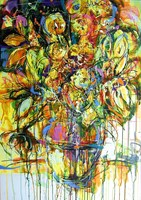 Obraz do salonu artysty Dariusz Grajek pod tytułem Słoneczniki I