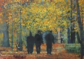 Obraz do salonu artysty Michał Baca pod tytułem Jesienne trio