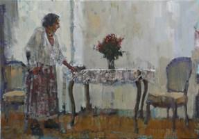 Obraz do salonu artysty Michał Baca pod tytułem Kwiaty na pożegnanie