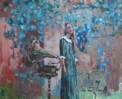 Obraz do salonu artysty Michał Baca pod tytułem Śpiewaczka