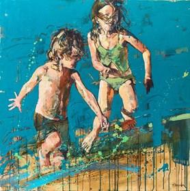 Obraz do salonu artysty Marcin Mikołajczak pod tytułem Szalona zabawa II