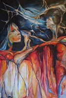 Living room painting by J. Aurelia Sikiewicz-Wojtaszek titled Challenge