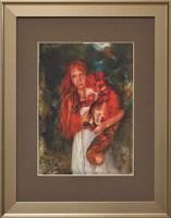 Living room painting by J. Aurelia Sikiewicz-Wojtaszek titled Lady with fox