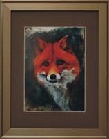 Living room painting by J. Aurelia Sikiewicz-Wojtaszek titled Fox