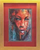 Living room painting by J. Aurelia Sikiewicz-Wojtaszek titled Sun of Africa