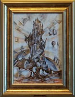Living room painting by J. Aurelia Sikiewicz-Wojtaszek titled Virtual
