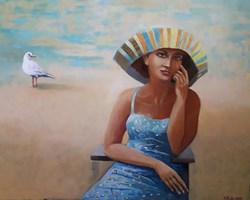 Obraz do salonu artysty Renata Kulig-Radziszewska pod tytułem Biała mewa