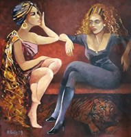 Obraz do salonu artysty Renata Kulig-Radziszewska pod tytułem Kumoszki