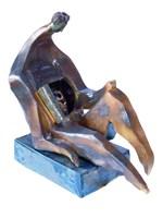 Rzeźba do salonu artysty Wiesław Fijałkowski pod tytułem Zdziwienie