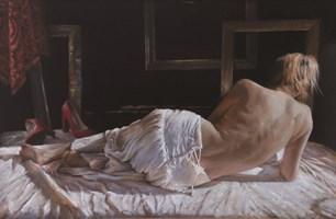 Obraz do salonu artysty Alina Sibera pod tytułem W pracowni