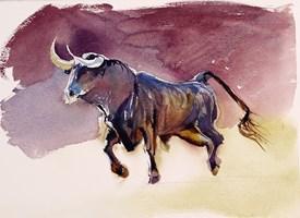 Obraz do salonu artysty Beata Musiał-Tomaszewska pod tytułem El toro purple