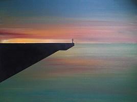 Obraz do salonu artysty Hugo Giza pod tytułem Zachód I
