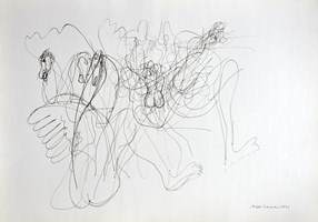 Obraz do salonu artysty Hugon Lasecki pod tytułem 40 -bez tytułu