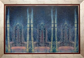 Obraz do salonu artysty Katarzyna Kania pod tytułem Teatr Nieśmiertelności Akt VIII Królestwo Samotności