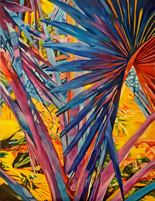 Living room painting by Joanna Szumska titled Power of the nature