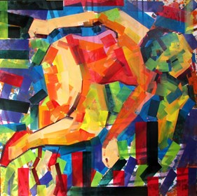 Living room painting by Piotr Kachny titled Some Body Soul