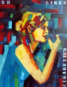 Living room painting by Piotr Kachny titled Adora