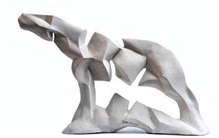Living room sculpture by Antoni Pastwa titled Horse VIII