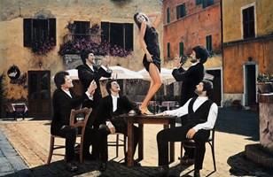 Grafika do salonu artysty Janusz Kulikowski pod tytułem Nel Frattempo in Toscana AP I z XXX
