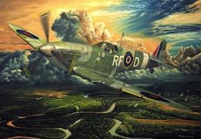 Grafika do salonu artysty Janusz Kulikowski pod tytułem Spitfire AP II z XXX