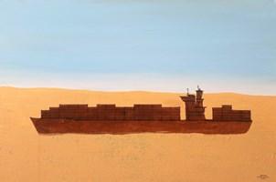 Obraz do salonu artysty Michał Mroczka pod tytułem Jezioro Aralskie