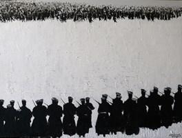 Obraz do salonu artysty Michał Mroczka pod tytułem Rewolucja