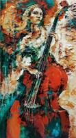 Obraz do salonu artysty Krystyna Róż-Pasek pod tytułem Królowa dzwięku