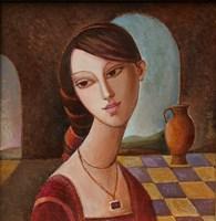 Obraz do salonu artysty Agnieszka Korczak-Ostrowska pod tytułem Dziewczyna z amforą